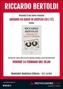 """Siderno (Rc): Alla Mondadori arriva Riccardo Bertoldi con """"Abbiamo un bacio in sospeso (io e te)"""""""