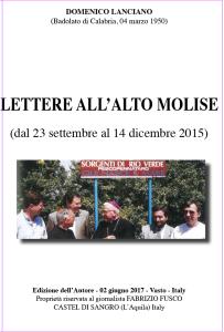 Lettere a Tito n. 283. In omaggio l'opuscolo con 8 lettere all'Alto Molise del 2017