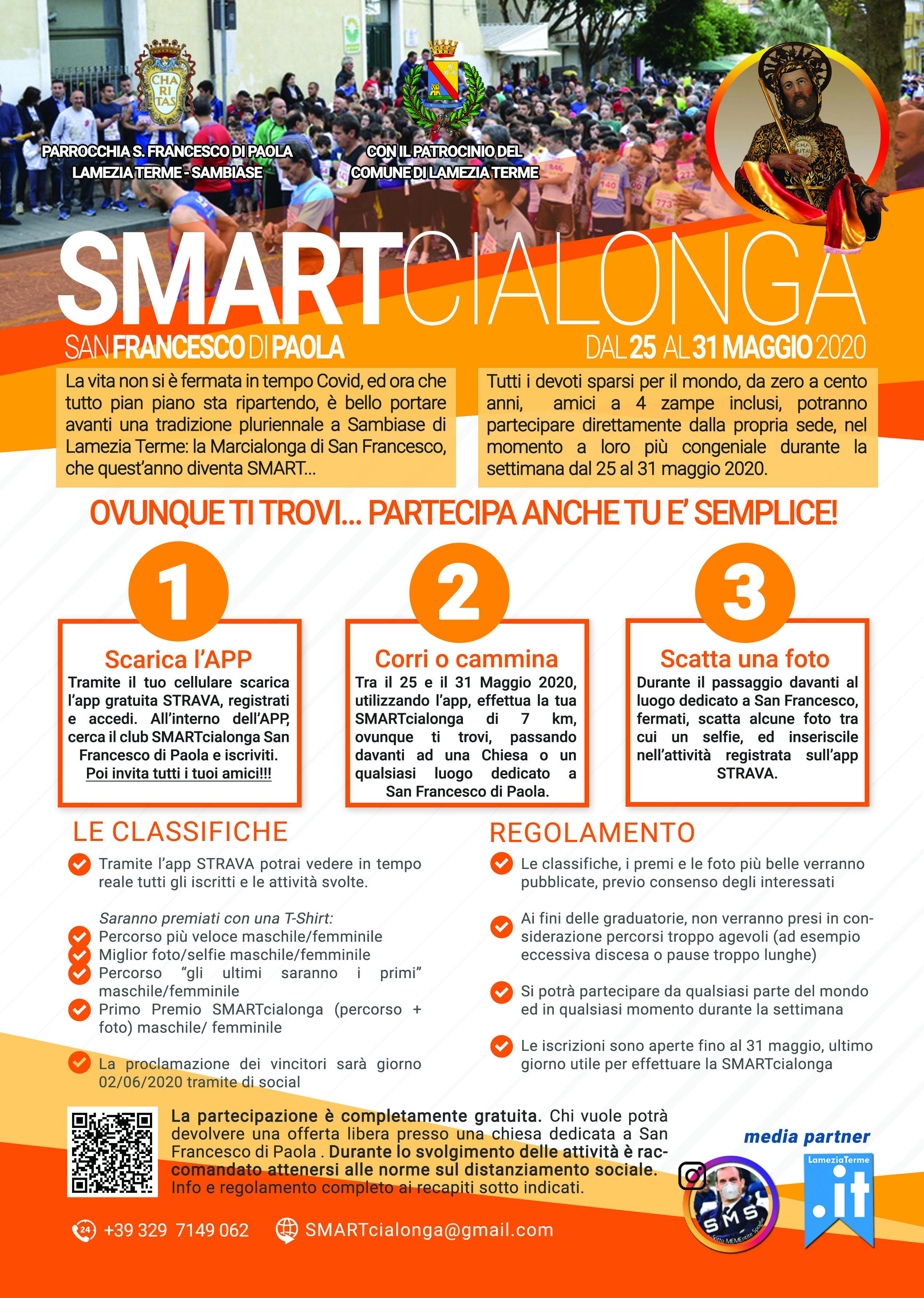 Lamezia Terme (Cz). La manifestazione Marcialonga San Francesco da Paola per la sua 37 edizione diventa Smart