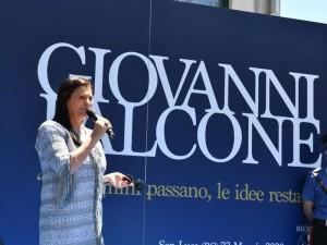 Presidente Regione Calabria Jole Santelli a San Luca per commemorazione Falcone
