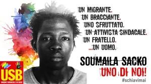 San Calogero (VV). Due anni fa lomicidio di Soumaila Sacko: marted 2 giugno la commemorazione USB