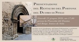 Stilo (Rc). Conferenza di presentazione restauro monumentale portone