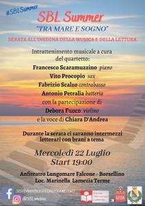 """Lamezia Terme (Cz). Mercoledì 22 luglio """"Sbl Summer – Tra mare e sogno"""""""