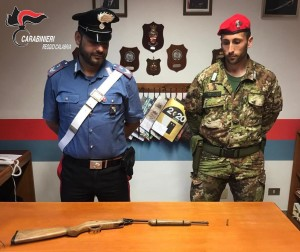 Reggio Calabria e provincia. Platì e Sant'ilario dello Jonio, nuovo rinvenimento di armi.