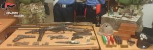 Santa Cristina d'Aspromonte (Rc). Trovato arsenale bellico e munizioni. Arrestati madre e figlio.