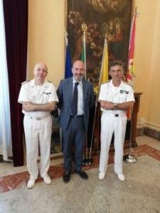 Messina. Il Vice Sindaco Mondello ha ricevuto oggi a Palazzo Zanca in visita di cortesia il Contrammiraglio Russo