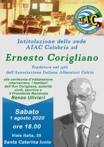 """Calabria. Aiac: """"Intitolazione della sede regionale all'avv Ernesto Corigliano"""""""