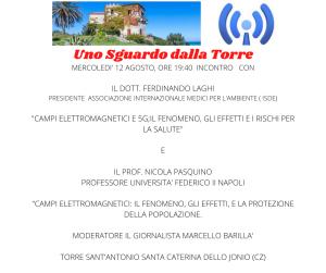 Santa Caterina dello Ionio (Cz): Campi elettromagnetici e 5G, se ne parlerà in un incontro a Torre Sant'Antonio.