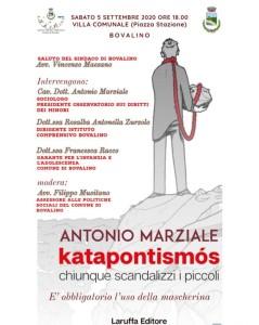 """Bovalino (Rc): sarà presentato domani, a Bovalino, il libro """"Katapontismòs"""" di A. Marziale"""