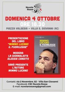 """Presentazione libro """"Il Fuorilegge"""" con Mimmo Lucano a Villa San Giovanni (Rc)"""