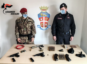Ciminà (Rc). Ennesimo ritrovamento di armi da parte dei Carabinieri.