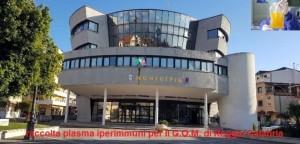 """Bovalino (Rc): a breve partirà la raccolta del """"Plasma iperimmuni"""". Collaborazione Amministrazione-Avis"""