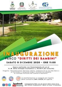 """Bovalino (Rc): """"Parco diritti dei bambini"""", nuova area green a disposizione dei cittadini"""