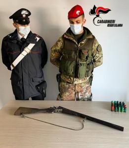 Ciminà (Rc). Ritrovamento di armi e munizioni da parte dei Carabinieri.
