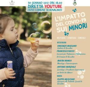 """Bovalino (Rc): Incontro-dibattito in streaming su """"L'impatto del Covid-19 sui minori"""""""