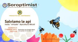 """Progetto del Soroptimist """"Adotta un'arnia"""": domani vista virtuale all'Apicoltura di Lamezia Terme (Cz)"""