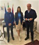 Milazzo (Me). Il regista Rai Sciacca e Miss Italia 2020 in visita incontrano il Sindaco